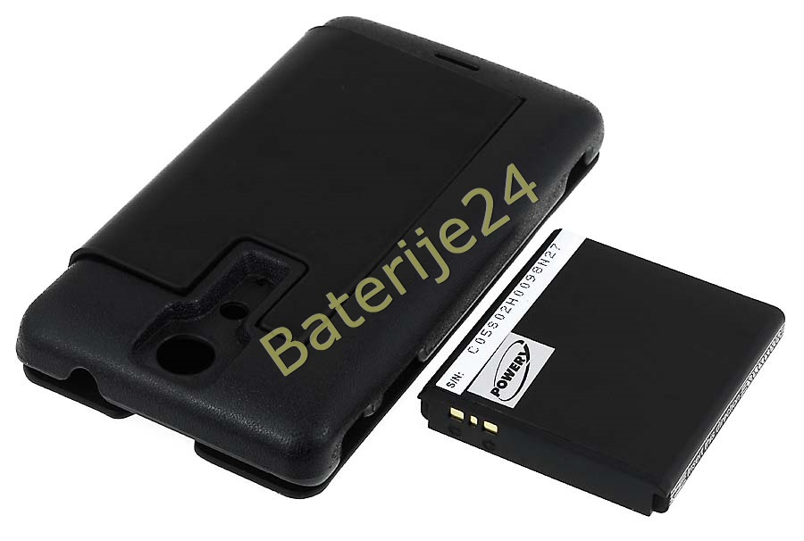 Baterija za Sony-Ericsson Xperia TX/ LT29/ Typ BA900  3400mAh + Flip Cover crna