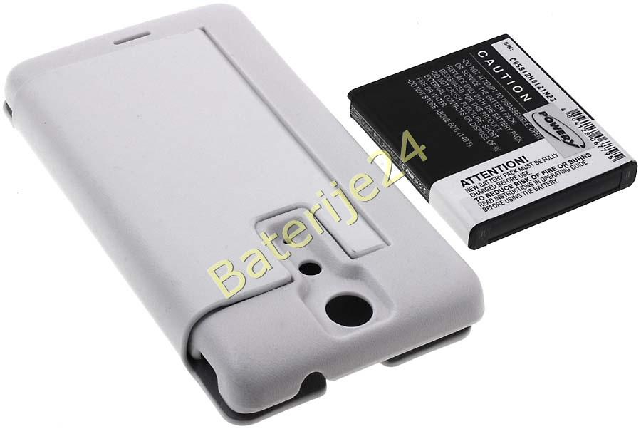 Baterija za Sony Ericsson Xperia LT29 / Typ BA900 3400mAh + Flip Cover bijela