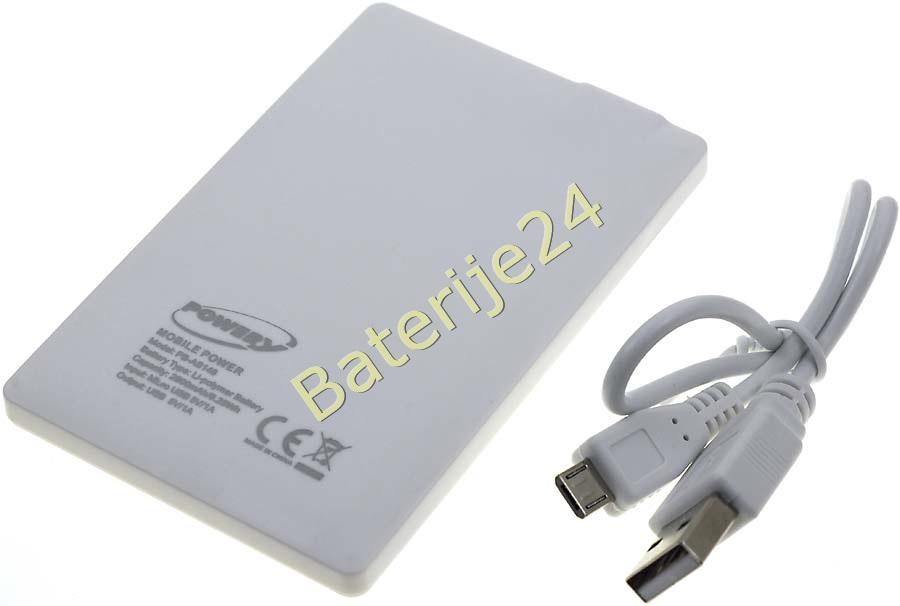 Prijenosni USB-Baterijapack 2500mAh ultra-flach