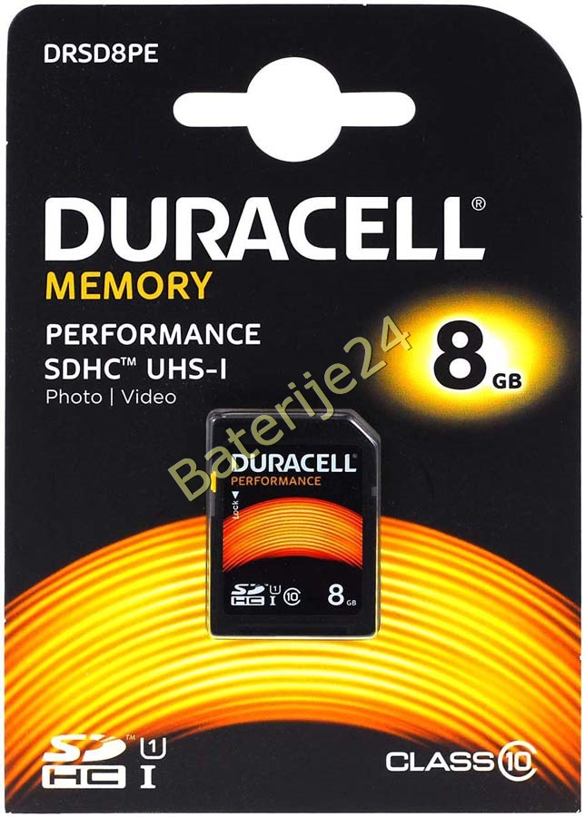 Duracell Memory SD-Card SDHC UHS-I 8GB