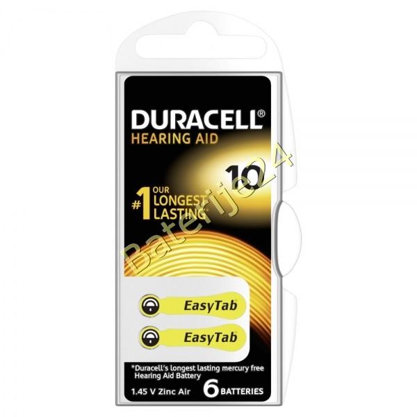 Duracell baterija za slušni aparat DA10 6 kom Blister