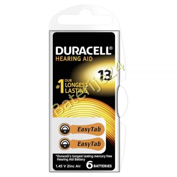 Duracell baterija za slušni aparat DA13 6 kom Blister