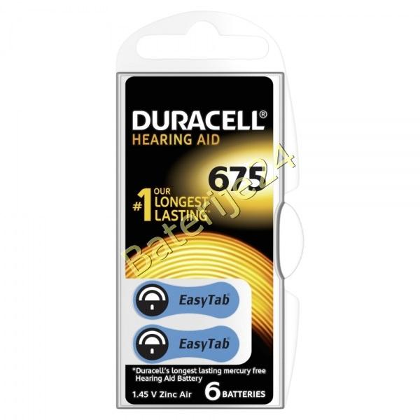 Duracell baterija za slušni aparat DA675 6 kom Blister