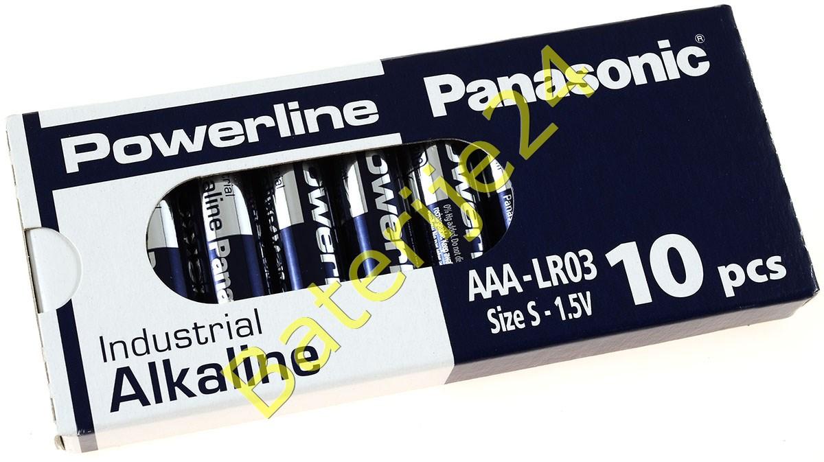 Panasonic Powerline Industrial Alkaline AAA LR03AD LR03 1,5V 10er Pack