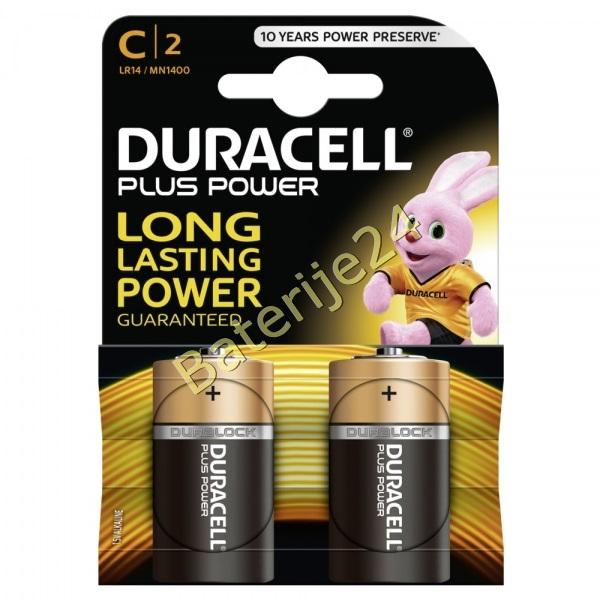 Baterija Duracell Plus MN1400 LR14 Baby 2 kom Blister