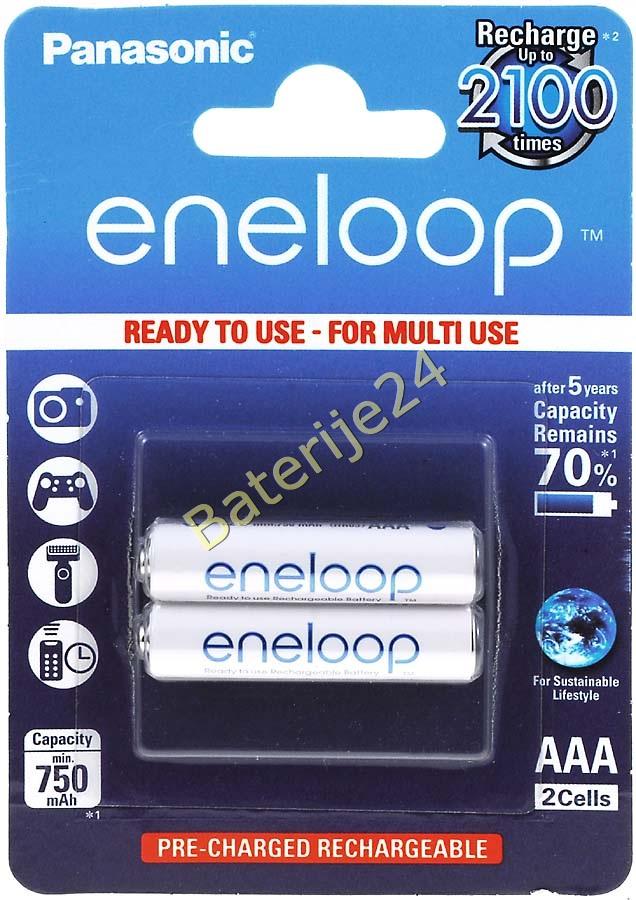 Panasonic eneloop Baterija AAA 2 kom-Blister (BK-4MCCE/2BE)
